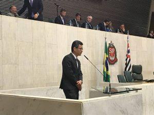 Dr. Ishida, Presidente da SBCP-SP, na ALESP