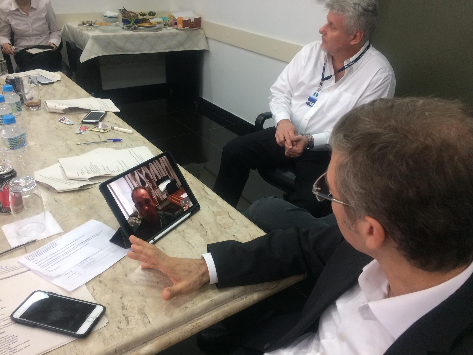 Skype com o escritor e palestrante Amyr Klink sobre a participação dele na JP 2018