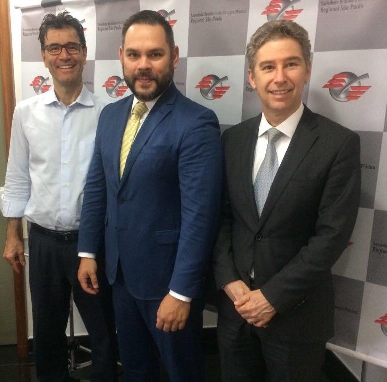 Dr. Felipe Coutinho, Dr. Carlos Michaelis e Dr. Elvio Bueno Garcia