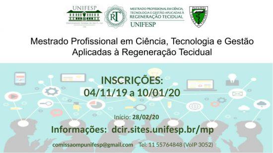 Mestrado Profissional em Ciência, Tecnologia e Gestão Aplicadas à Regeneração Tecidual